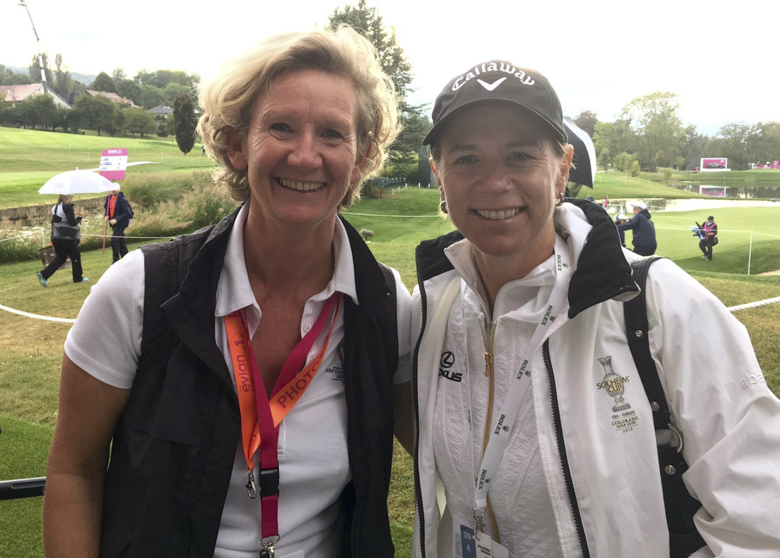 Always very inspiring to catch up with golf-legend Annika Sörenstam.